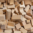 Construction Bricks of Wood — Stock Photo