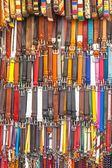 Background of Leather Pants Belts — Stock Photo