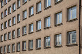Background of Unpainted Concrete Building — Stock Photo