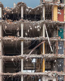 Demolition of a High rise Bulding — Stock Photo