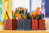 Education equipment in a Classroom — Stock Photo