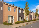 Modern Street Terrace Houses — Stock Photo
