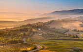 Morning Fog over Tuscan Country, Italy — Stock Photo