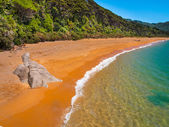 Secluded Beach New Zealand — Stock Photo