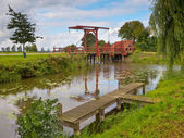 Old Wooden Drawbridge — Stock Photo