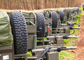 Army Trailers — Stock Photo
