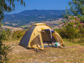 Camping Tent Valley — Stock Photo