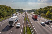 Evening Traffic on the A12 Motorway, One of the Bussiest in the  — Stock Photo