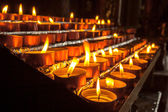 Group of Votive Candle in a Row — Stock Photo