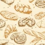 Vintage pattern bread — Stock Vector