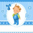Baby shower — Vector de stock #15714013