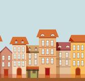 Summer houses — Stock Vector