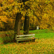 Bench autumn - Stock Photo