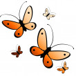 Beautiful butterflies - Stock Photo