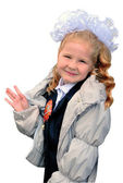 Girl-first grader — Stock Photo