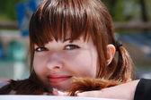 Krásná dívka. — Stock fotografie