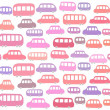 Seamless pattern with cartoon cars — Stock Vector