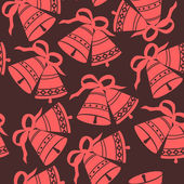 Christmas Bells seamless pattern — Stock Vector
