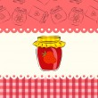 Stock Vector: Strawberry jam