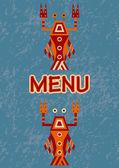 Menu avec des fruits de mer — Vecteur