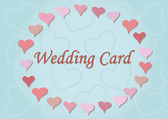 Wedding card with hearts — Stock Vector