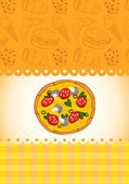 Card with pizza — Stock Vector