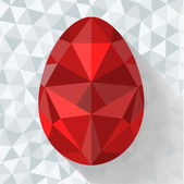 Flat design polygon of Easter egg. Vector illustration. — Stock Vector