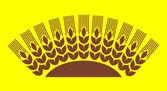 Wheat decor — Stock Vector