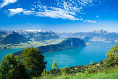 Beautiful view to Lucerne lake (Vierwaldstattersee) — Stock Photo