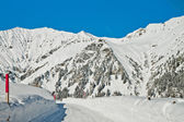 Beautiful view to winter Swiss Alps — Stock Photo