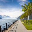 Royalty-Free Stock Photo: Beautiful promenade on Lucerne lake