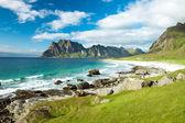 Eggum beach in Norway, Lofoten islands — Stock Photo