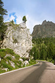 Mountain road, Dolomites — Stock Photo