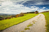 从 albis,小行政区苏黎世到瑞士高原的全景视图 — 图库照片