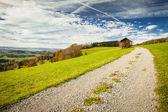 Widok na panoramę na płaskowyżu szwajcarskiego z albis, kantonu zurych — Zdjęcie stockowe