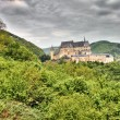 Vianden Castle in Luxembourg - Stock Photo