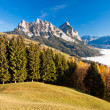 Fog surrounding the Mythen mountains in the Switzerland — Stock Photo