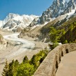 Stock Photo: View to French Alps, Mer de Glace, Sea of ice