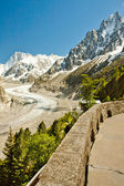 View to French Alps, Mer de Glace, Sea of ice — Stock Photo