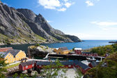 Fishing village in Norway, Nusfjord, Lofoten — Stock Photo