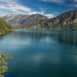View to Lake Brienz in autumn beautiful weather, Bernese Highlands, Switzerland, HDR — Stock Photo #34944451
