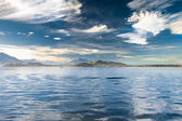 View to Pilatus and Zugsee from Zug, Central Switzerland — Foto Stock
