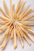 Christmas straw star, isolated — Stock Photo