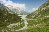 Mountain road, Grimselpass, Switzerland — Stock Photo