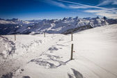 Beautiful view to winter Swiss Alps, Frontalpstock, Central Switzerland — Stock Photo