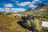 The Sognefjellsvegen, the highest mountain pass road in Northern Europe, Norway — Stock Photo