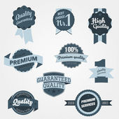 Vintage Quality Badges — Stock Vector