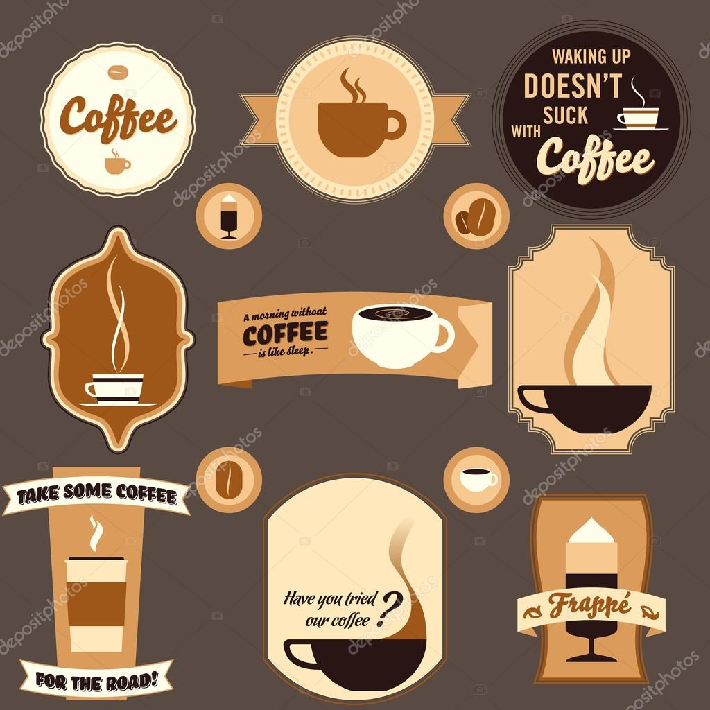 Vintage coffee design elements stock illustration