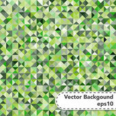 Tessellating Abstract Green Background — Stock Vector