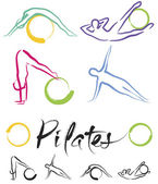 Illustration - Pilates Classe — Stock Vector